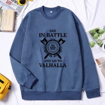 Men Viking Sweatshirt Hoodie Valhalla Odin Hoodie Fashion Hoodies Hip Hop Pullovers Hombres Sudaderas Autumn Winter Streetwear 1