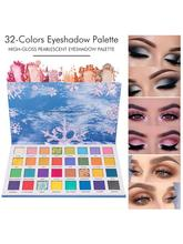 32 Colors Glitter Powder Eyeshadow High-Gloss Pearlescent Eyeshadow Net Red Eyeshadow Stage Eye Makeup Cosmetic