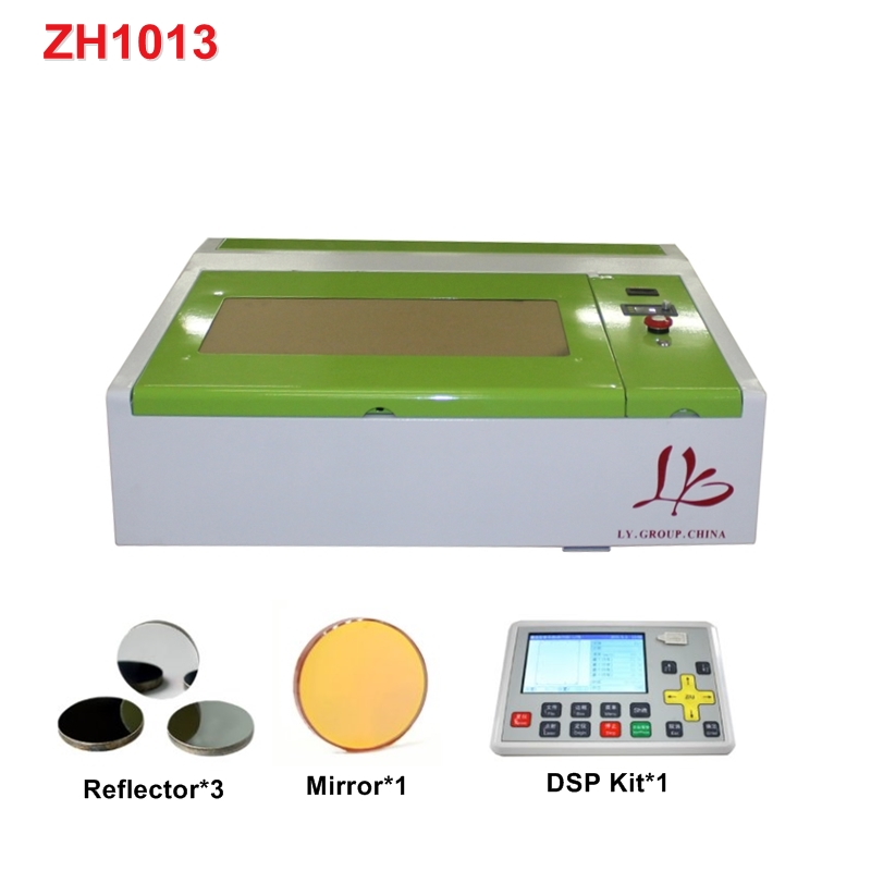 Mini 4040 CO2 Laser Engraver Engraving 40W Cutting Machine With LCD Control Panel Honeycomb Board USB Port Work Size 400*400mm