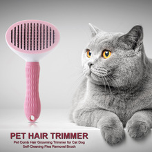 Cat Grooming Comb Pet-Hair-Trimmer Beauty-Care-Supplies Brush Flea-Removal Self-Cleaning