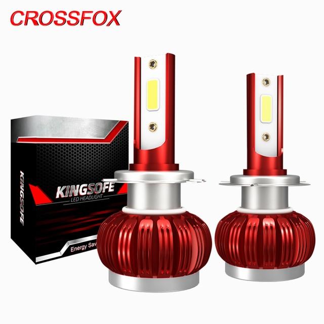 CROSSFOX Led مصابيح H4 H1 H8 H9 H11 9005 HB3 9006 HB4 H7 LED 12V 6000K الأبيض 8000LM المصابيح الأمامية سيارة الضباب محرك تشغيل ضوء