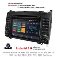 HD 2din Car DVD GPS Head unit for Mercedes Benz B200 A B Class W169 W245 Viano Vito W639 Sprinter W906 4GBluetooth Radio Android