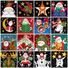 Fezrgea Cartoon Diamond Painting Christmas Santa Claus Full Square Embroidery Snowman Decoration for Home