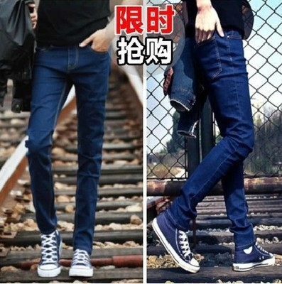 Autumn Spring Clothing New Style MEN'S Jeans Skinny Pants Pencil Pants Blue Jeans