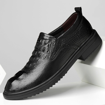2020New business men Oxfords shoes set of feet Black Brown Male Office Wedding pointed men's leather shoes big size 47