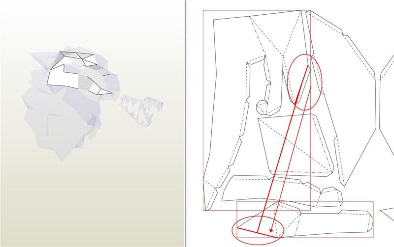 Gato de origami decorativo plano_1