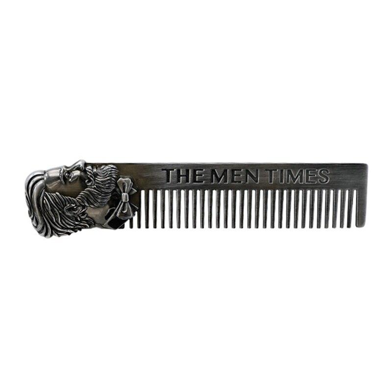 Stainless Beard Comb Men Beard Shaping Template SteelMen Hair Beard Trim Tool
