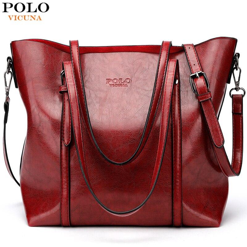 VICUNA POLO marque mode grande capacité en cuir femmes sac à main Design classique sac fourre-tout pour femmes bandoulière sacs à bandoulière