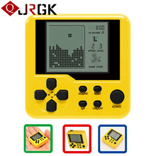 Retro Classic Tetris Handheld Game Player Portable Mini Childhood Games Console Puzzle Educational Electronic Toy For Kids Child(China)