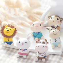 Mini Cute Figurines Miniature Cake Decor Resin Catoon Animal Crafts Desktop Animals Ornaments Gift for Childern Home Ornaments resin chef figurines retro chef model ornaments cute mini character people decoration home restaurant bar cafe decoration crafts