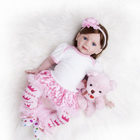 60 cm Simulation Baby Simulation Doll Clothing Model Silicone Rebirth Doll Monster High Dolls Baby Doll Toys