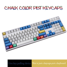 Profile ANSI 104 Keys Blank Thick PBT Chalk Keyset Keycap For Cherry MX Switches Mechanical Keyboard