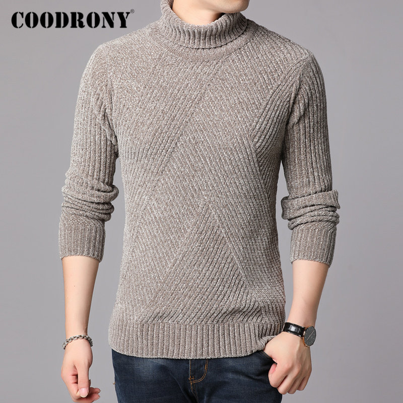 COODRONY Brand Turtleneck Sweaters Thick Warm Winter Sweater Men New Arrival Fashion Casual Pull Homme Cotton Pullover Men 91130