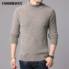 COODRONY Brand Turtleneck Sweaters Thick Warm Winter Sweater Men New Arrival Fashion Casual Pull Homme Cotton Pullover 91130