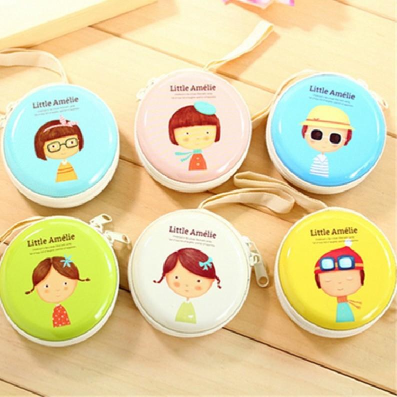 Korean-style Creative Fashion Tinplate Little Girl Purse Students Mini Storage Earphone Bag Portable Coin Bag