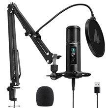 MAONO PM422 USB Mikrofon Null Latenz Überwachung 192KHZ/24BIT Professionelle Nieren Kondensator Mic desktop podcast mikrofon