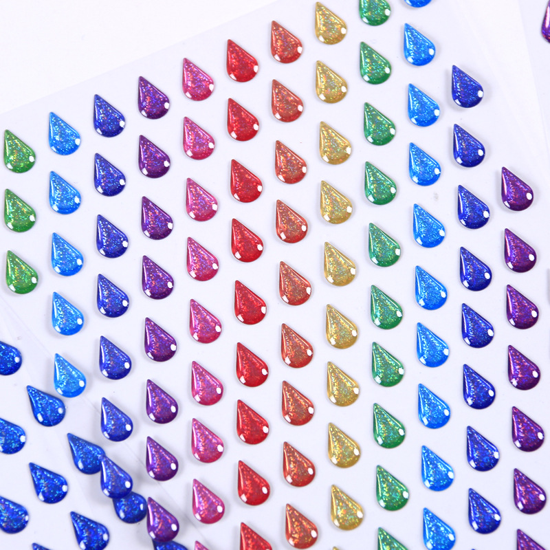Water Drop Clear Glittering Percha Crystal 3D Decorative Stickers Scrapbooking Stick Label Diary Stationery Album Stickers