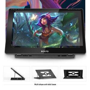 Image 4 - Bosto 16HD 15.6 Inch Ips Grafische Tekening Digitale Tabletten Monitor 8192 Druk Niveau Met Oplaadbare Stylus Pen