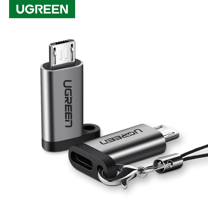 Ugreen Mobile Phone Adapter Micro USB to USB C Adapter Microusb Connector Xiaomi Redmi Oppo Vivo USB Type C Adapter Converters