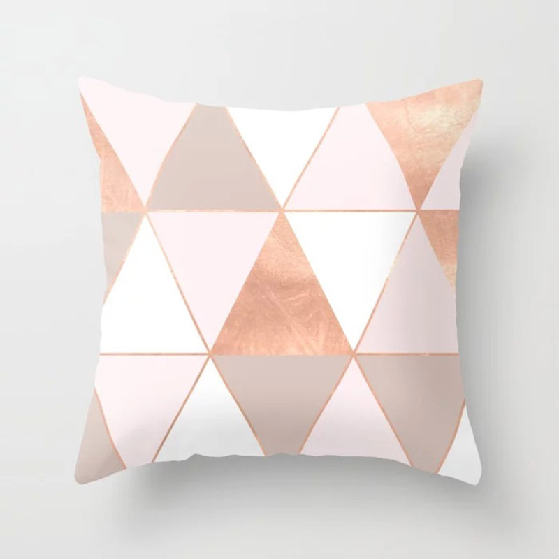 Haba5176f0b994e19ad68ba2f60945ce8E New 1PC Popular Cushion Case Geometric Tropic Pineapple Nordic Sofa Pink Pillow Decorative