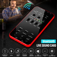 1000mAh Live Sound Card Audio External Bluetooth USB Headset Microphone bluetooth Broad Connection for Phone PC Live Sound Card