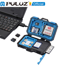 PULUZ Card Reader + 22 in 1 การ์ดหน่วยความจำสำหรับ 1 ซิม + 2Micro SIM + 2Nano SIM + 3CF + 7SD + 6TF + 1CARD PIN