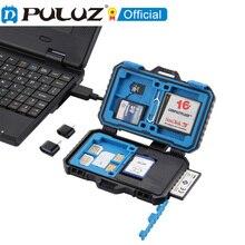 PULUZ lector de tarjetas + funda de tarjeta de memoria 22 en 1 para 1 SIM estándar + 2Micro SIM + 2Nano SIM + 3CF + 7SD + 6TF + 1 PIN de tarjeta
