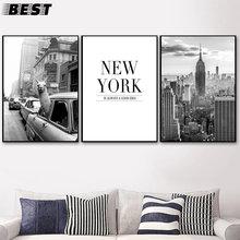 Cartaz preto e branco arte da parede nova iorque cidade rua paisagem quadros cartazes e impressões los tela imagem para sala de e
