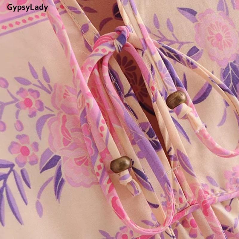 Купить женское платье с длинным рукавом и цветочным принтом в стиле