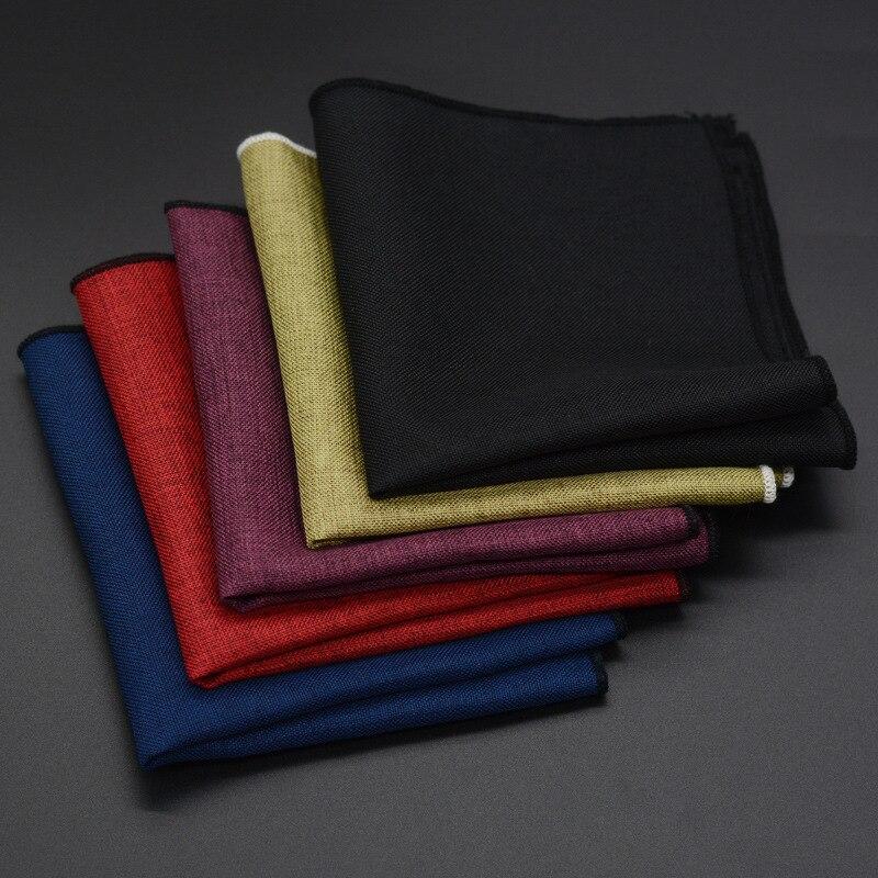 Fashion Men's Handkerchief Classic Cotton Pocket Square Handkerchief Male Pocket Towels Wedding Accessories Hand Towel Scarf New