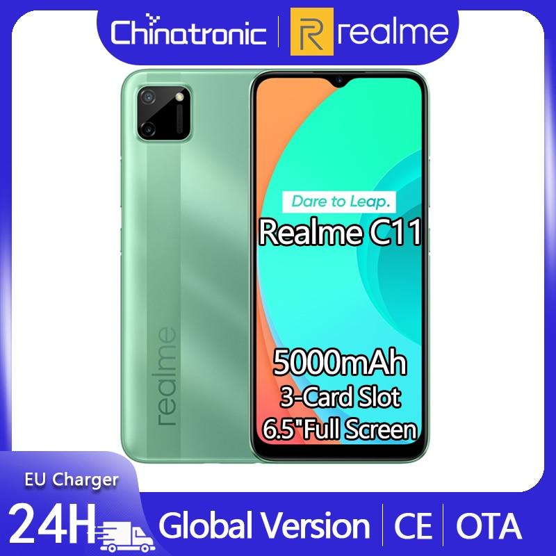 Глобальная версия realme C11 32 ГБ Android 10 Мобильный телефон 6,5