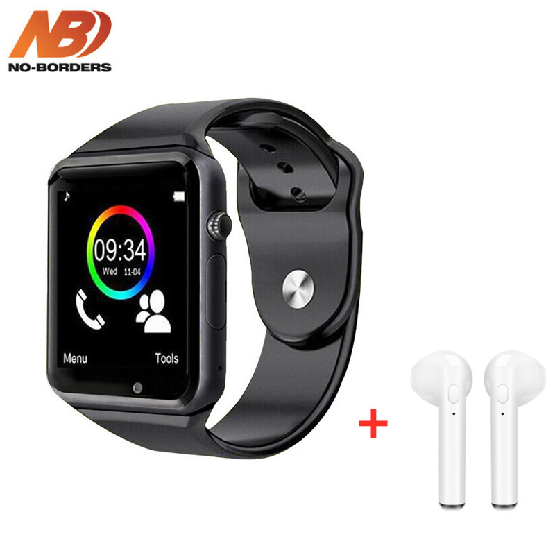 Free Shipping WristWatch Bluetooth Smart Watch A1 Smartwatch And Bluetooth Headphone I7s For Android Apple Watch PK IWO 8 10 12