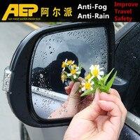 waterproof rain 2Pcs/Set For Car Waterproof Rain Anti Fog Sticker Car Mirror Window Clear Film Anti Dazzle Car Rearview Mirror Protective Film (1)