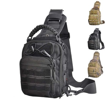 1050D Military Tactical Chest Bags Camouflage Molle Bag Shoulder Hiking Bag Camping Backpack Crossbody Bag Hunting Outdoor Sling