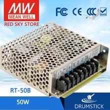 Ofertas Especiales MEAN WELL RT 50B meanwell RT 50 50W Triple salida conmutación fuente de alimentación