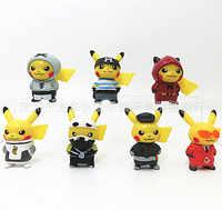 Pokemon 7-Pikachu Tasche Monster mit Taschen Elf Spielzeug Puppe Modell wei jing Dekoration