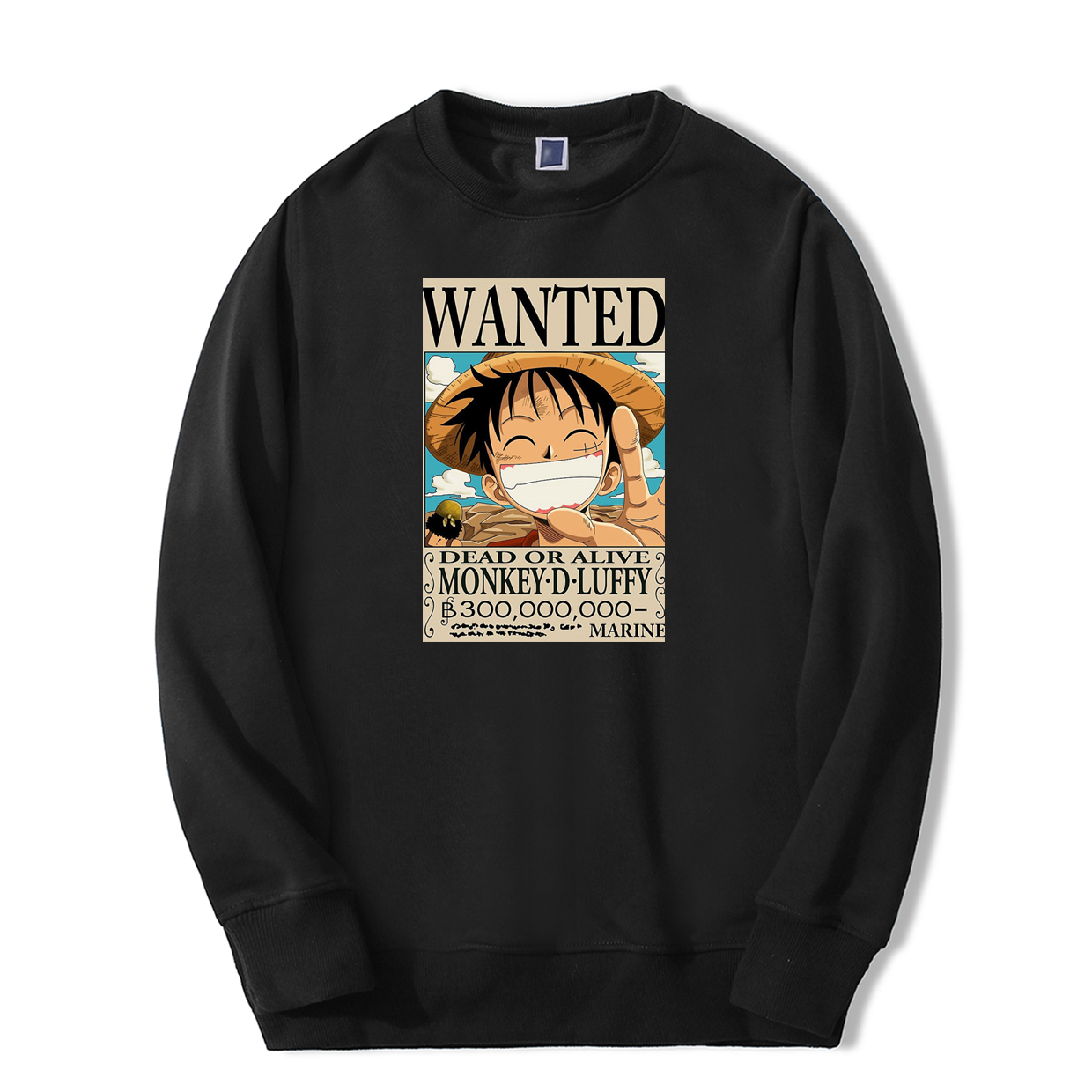 Japan Anime One Piece Sweatshirts Monkey <font><b>D</b></font> Luffy Wanted <font><b>2019</b></font> New Arrival Harajuku Mens Hoodie Fashion High Quality Tracksuit image