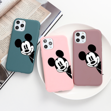 Fashion Cartoon Couple Cover For iPhone 11 Pro Xs Max X XR Soft Silicone Cases For iPhone 6S 6 7 8 Plus 5 5S SE Phone Case Funda(China)