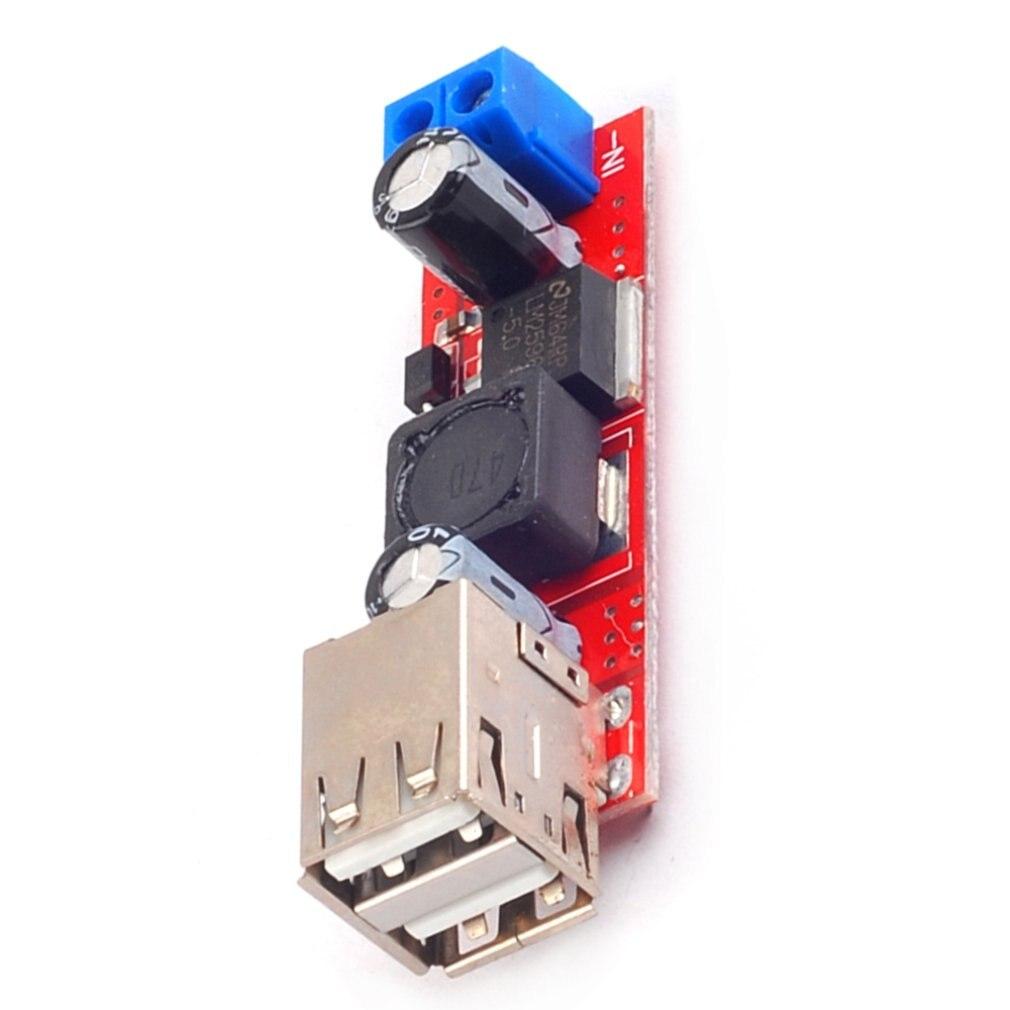 Car Charger Buck Regulator Module Dual USB Output 9V/12V/24V/36V To 5V DC-DC Car Charger 3A Buck Regulator Module