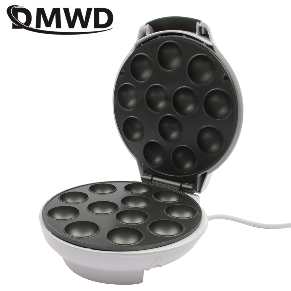DMWD Automatic Lollipop Mini Cake Machine Muffin Cup Cake Maker Electric Eggettes Puff Oven Octopus Ball Egg Tart Grill EU 220V