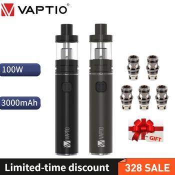 【gift】Vape Pen Vaptio C-II Kit 100w Vape Mod Top Fill 2ML 4ml Tank PT1 Coil Head C2 Glass Tube 3000mAh Electronic Cigarette Vape цена 2017