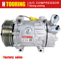 7V16 compressor For PEUGEOT 406 607 807 For CITROEN C5 C8 Xsara 6453NL 6453NK 6453YJ 6453TH 6453SE 6453TG 9659232180  96554216|Air-conditioning Installation|Automobiles & Motorcycles -