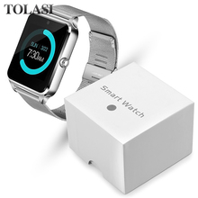 цены Smart Watch Women LED Touch Screen Bluetooth Sport Music Multifunction Steel strap Smartwatch Clock Women watch smart watch men