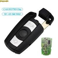 Jingyuqin remoto chave do carro 315/433/868mhz fsk cas3 id46 pcf7953 chip para bmw 1 3 5 7 series x5 x6 z4 controle chave inteligente 3 botão