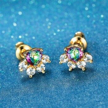 Dog White Stone Earrings  5