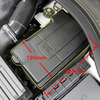 Car Engine Battery Protection Cover For Volkswagen Tiguan MK2 Skoda Kodiaq Positive Negative Battery Electrode Dust-Proof Shell image