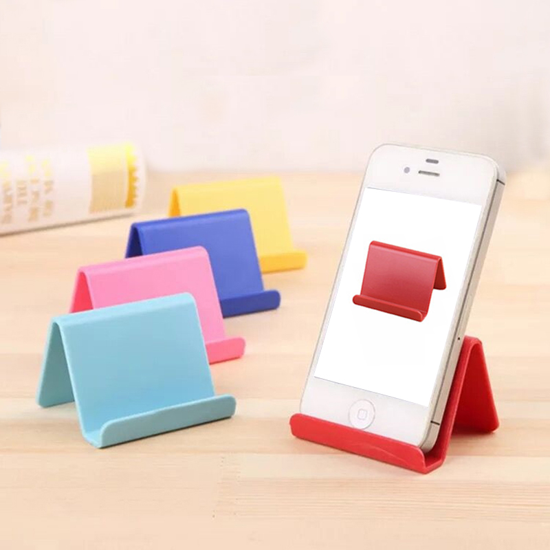 1PC Universal Fashion Mini Smart Phone Table Desk Mount Stand Phone Holder Bracket For Cell Mobile Phone Tablets Lazy Bracket