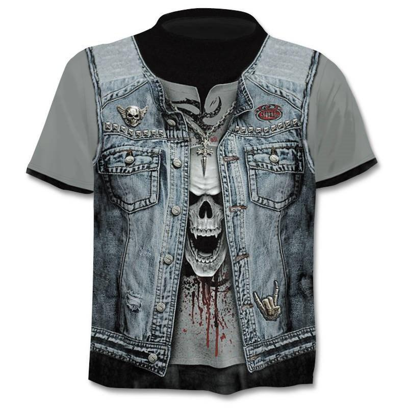 2020 new Drop ship 3D printed T-shirt men's women's tshirt punk style top tees skull t shirt gothic tshirt asian size 6XL gym