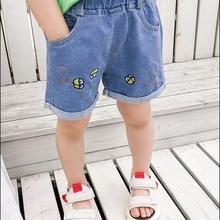Denim Shorts Sport-Pants Girls Boys Kids Summer Children 2-6-Years for School Thin