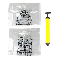 Hanging-Organizer Seal-Bags Clothes-Storage-Bag Wardrobe Closet Clear 1pc for with Space-Saving